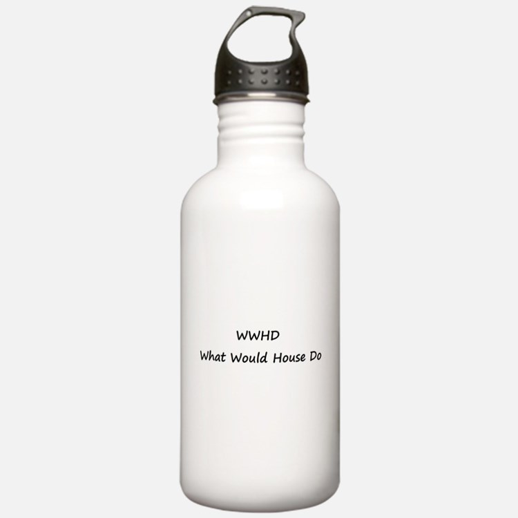 WWHD What Would House Do Water Bottle
