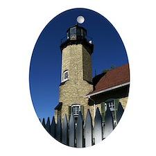 .White River Station Light. Ornament (Oval)