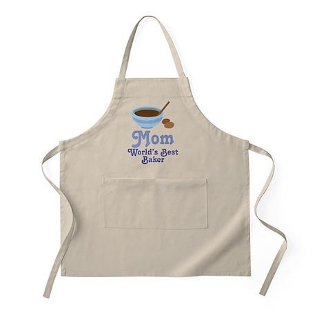 Mom World's Best Baker Kitchen Apron Gift