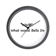 WWBD What Would Bella Do Wall Clock