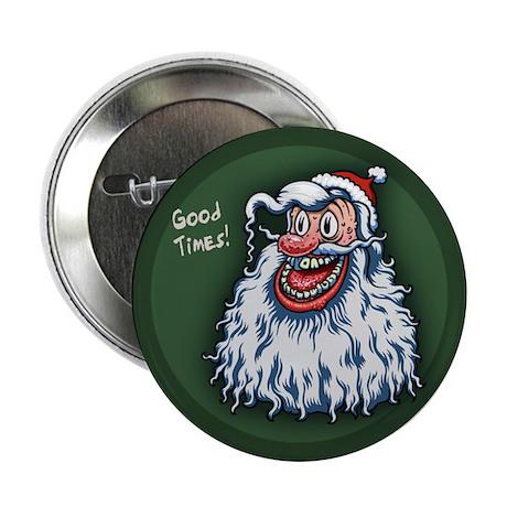 "Santa Good Times 2.25"" Button (100 pack)"