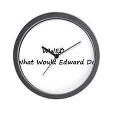 WWED What Would Edward Do Wall Clock