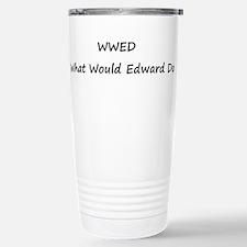 WWED What Would Edward Do Travel Mug