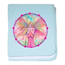 Wildflower Fairy Watercolor Fantasy A baby blanket