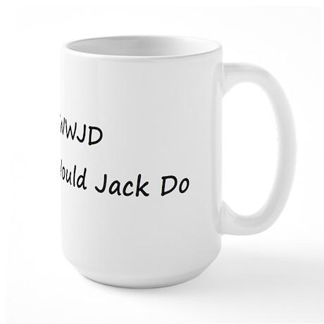 WWJD What Would Jack Do Large Mug