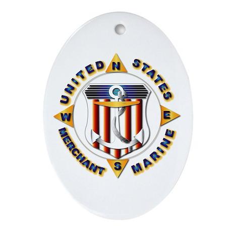 Emblem - US Merchant Marine Ornament (Oval)