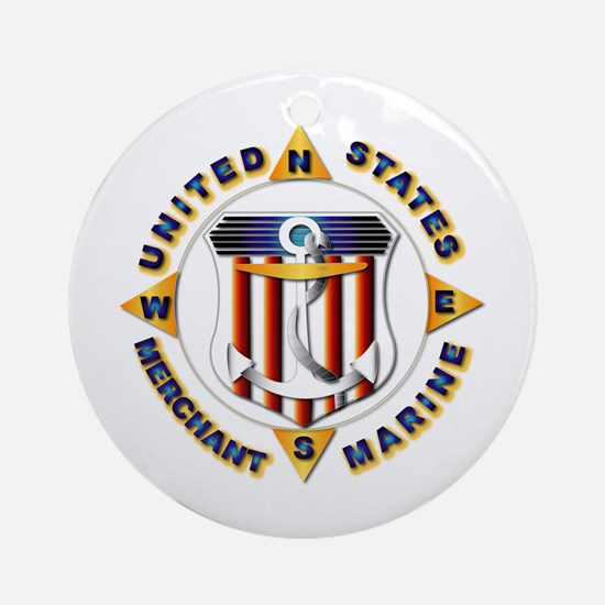 Emblem - US Merchant Marine Ornament (Round)