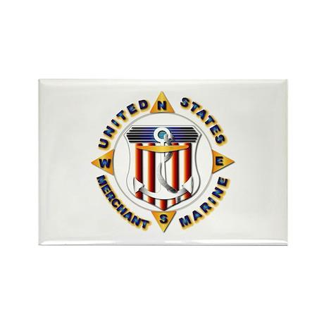Emblem - US Merchant Marine Rectangle Magnet