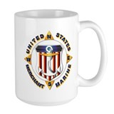 Merchant marine Large Mugs (15 oz)