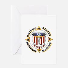 Emblem - US Merchant Marine Greeting Card