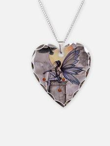 Autumn Raven Necklace Heart Charm