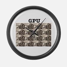 GPU Monkeys Large Wall Clock