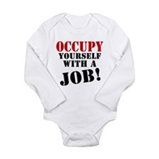 Occupy Yourself Long Sleeve Infant Bodysuit