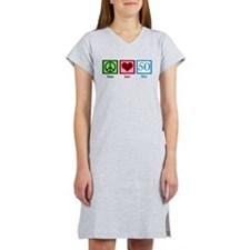Peace Love 50 Women's Nightshirt