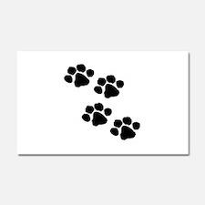 Pet Paw Prints Car Magnet 20 x 12