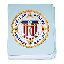 Emblem - US Merchant Marine - USMM baby blanket
