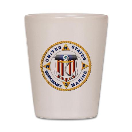 Emblem - US Merchant Marine - USMM Shot Glass