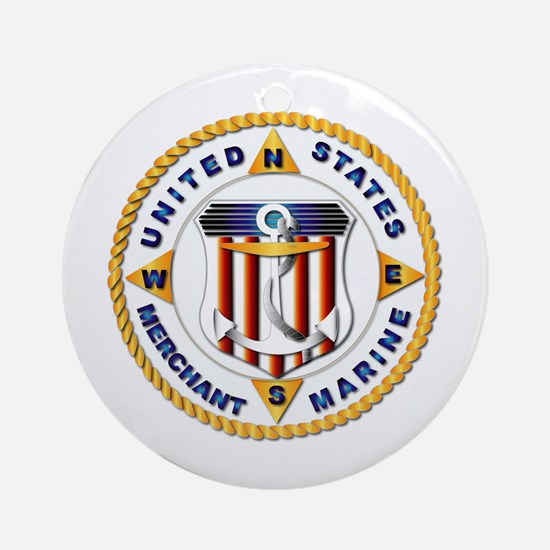 Emblem - US Merchant Marine - USMM Ornament (Round