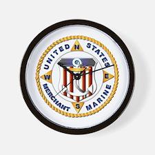Emblem - US Merchant Marine - USMM Wall Clock