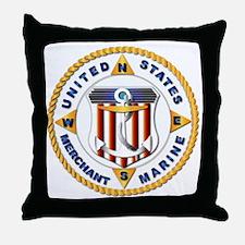 Emblem - US Merchant Marine - USMM Throw Pillow