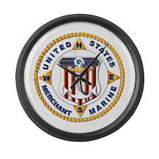 Emblem - US Merchant Marine - USMM Large Wall Cloc