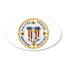 Emblem - US Merchant Marine - USMM 22x14 Oval Wall