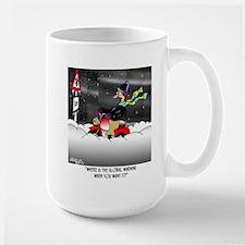 Where Is Global Warming? Large Mug