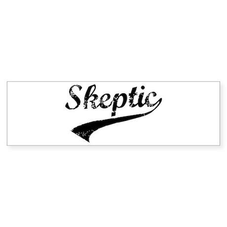 Skeptic Sticker (Bumper)