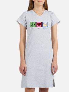 Peace Love Hanukkah Women's Nightshirt