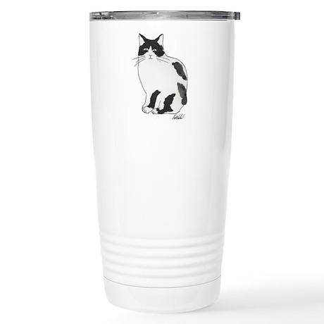 New Black and white cat Stainless Steel Travel Mug