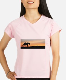 Horse Silhoutte at Sunset Performance Dry T-Shirt
