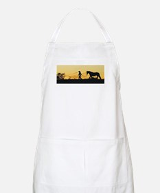 Girl and Horse at Sunset Apron