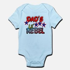 DAD'S LIT' REBEL Infant Bodysuit