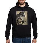 Metal Rock Skull Cross Hoodie Hoodie (dark)