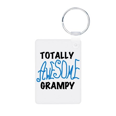 Totally Awesome Grampy Aluminum Photo Keychain