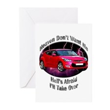 Hyundai Veloster Greeting Cards (Pk of 10)