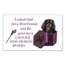 Cavalier (Black & Tan) Rectangle Decal