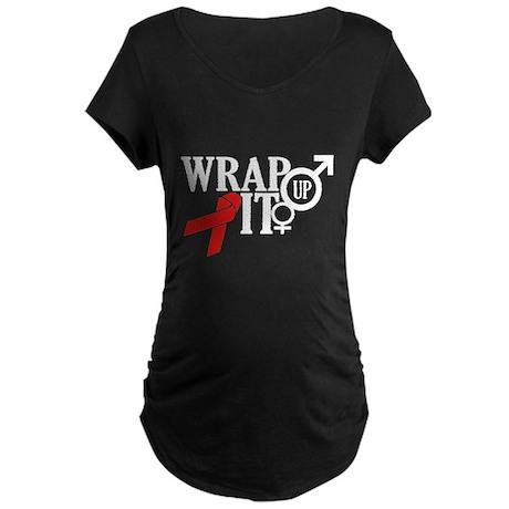 Wrap It Up Maternity Dark T-Shirt