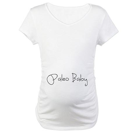 Paleo Baby - Black Maternity T-Shirt
