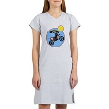 Dirt Bike Jump Women's Nightshirt
