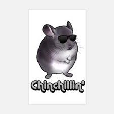 Chinchillin' 2 Gifts Sticker (Rectangle)