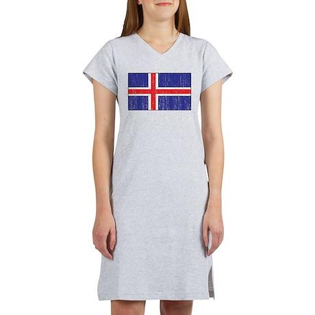 Iceland Flag Women's Nightshirt