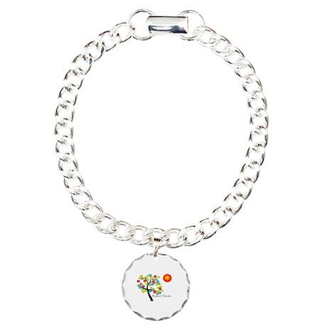 Retired Teacher Charm Bracelet, One Charm
