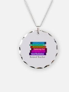 Retired Teacher Necklace Circle Charm
