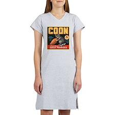 Coon Fruit Crate Label Women's Nightshirt