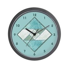 Unique Patchwork Wall Clock