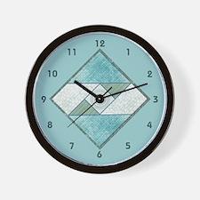 Unique Quilt block Wall Clock