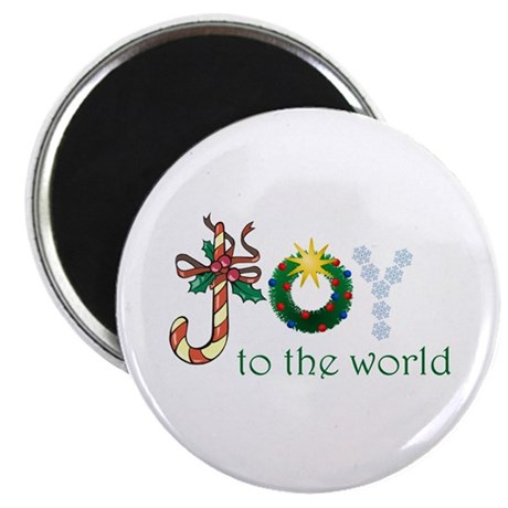 """Joy To The World 2.25"""" Magnet (10 pack)"""