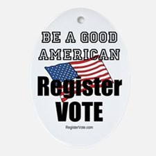 Register Vote Ornament (Oval)