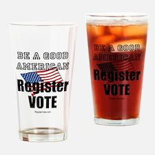 Register Vote Drinking Glass